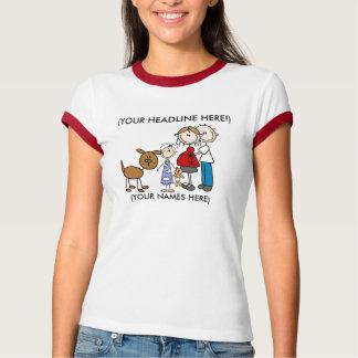 Customized Stick Family Two Shirt