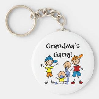 Customized Stick Figure Family Keychain
