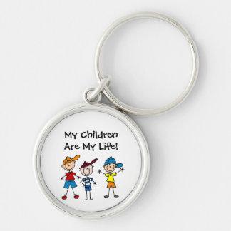 Customized Stick Figure Kids Family Keychains