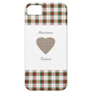 Customized Stuart Heart Tartan Plaid Case iPhone 5 Covers