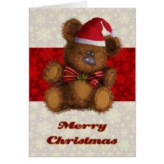 Customized Teddy Bear Christmas Card