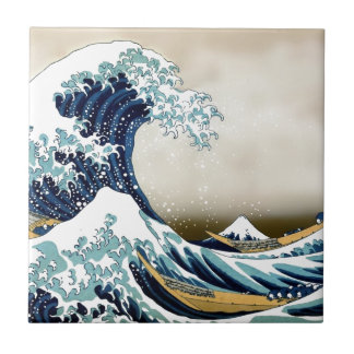 Customized The Great Wave off Kanagawa Gifts Small Square Tile