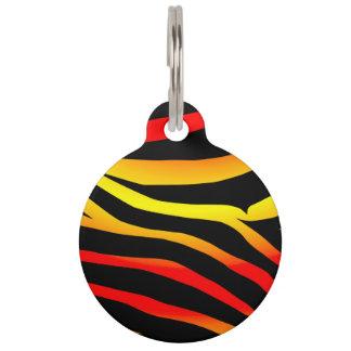 Customized Tiger Stripes Animal Print Pet Tag