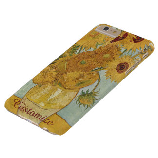 Customized Van Gogh Sunflowers Barely There iPhone 6 Plus Case