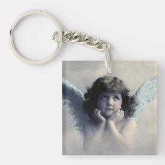 Customized Vintage Angel Square Acrylic Key Chain
