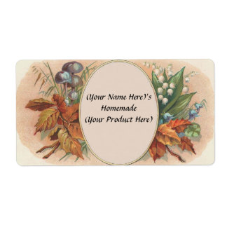 Customized Vintage Floral Canning / Candle Label 2