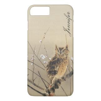 Customized Vintage Goun Owl Early Plum Blossoms iPhone 8 Plus/7 Plus Case