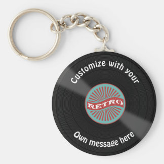 Customized Vinyl Record Key Ring
