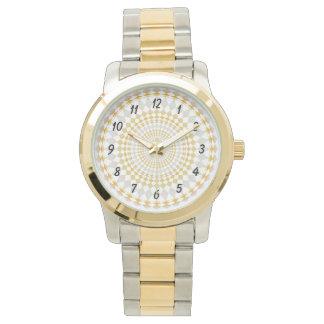 Customized watch 2 shades - Diamonds pattern