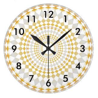Customized watch 2 shades - Diamonds pattern Large Clock