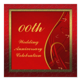 Customized Wedding Anniversary Party Invitation