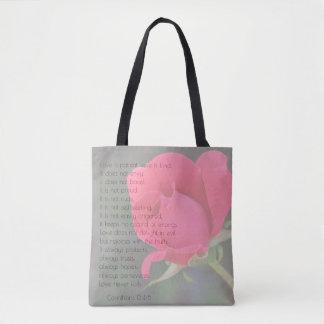 Customized Wedding Hotel Bag (Corinthians, Rose)