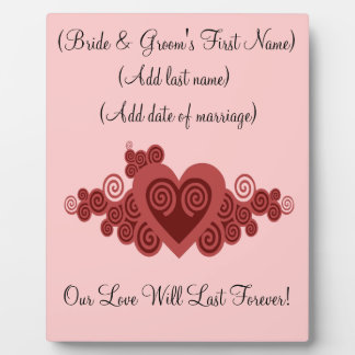 Customized Wedding or Anniversary Plaque