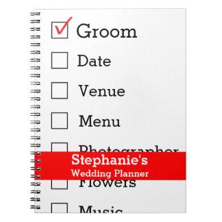 Customized Wedding Planner Checklist Notebooks