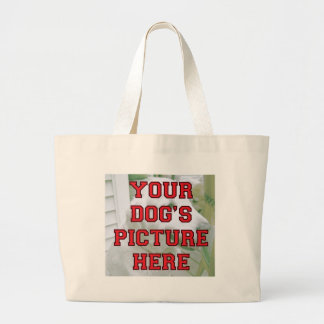 Customized Your Dog's Photo Large Tote Bag