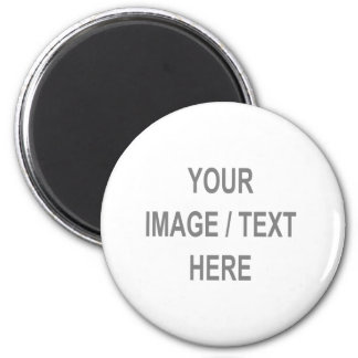 Customized Your Image-Text Here 6 Cm Round Magnet