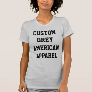 CustomPersonalized Womens SILVER CREW NECK T-SHIRT