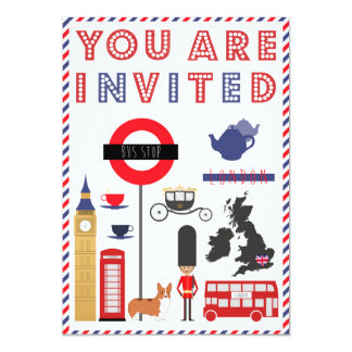 Custon Iconic London Trip Invitation