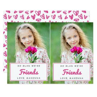 Cut-Apart Photo Classroom Valentines / Pink Card