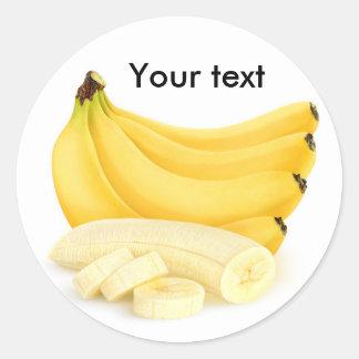 Cut banana bunch round sticker