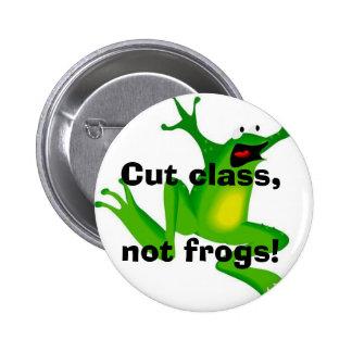 Cut class, not frogs! button