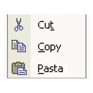 Cut Copy Pasta Postcard
