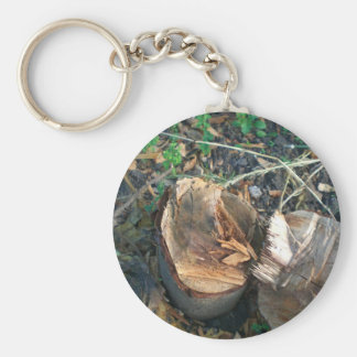Cut Down Plum Tree Basic Round Button Key Ring