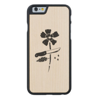 Cut flower carved® maple iPhone 6 case