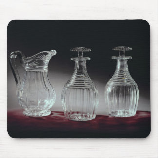 Cut glass decanters and jug, c.1840 mouse mat
