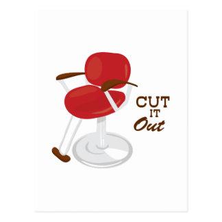 Cut It Out Postcard