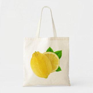 Cut lemon budget tote bag