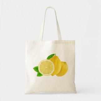 Cut lemons budget tote bag