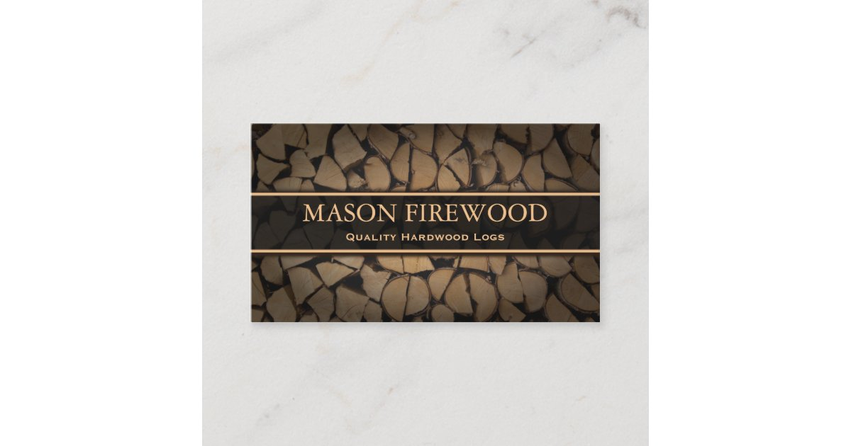 Cut Logs Firewood Supply Business Card | Zazzle.co.uk