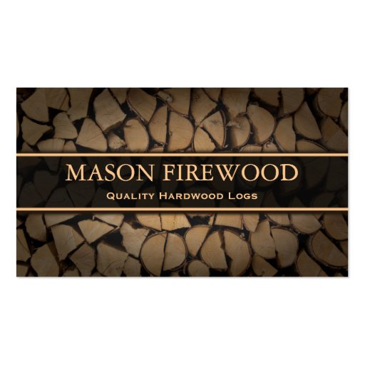 Cut Logs Firewood Supply Business Card