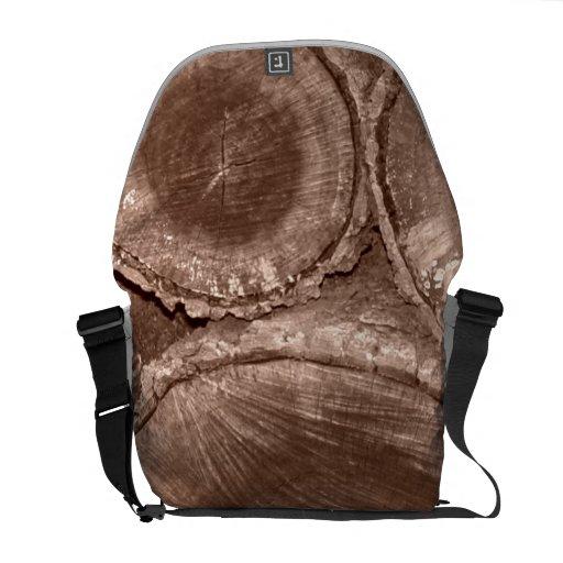 Cut Logs Courier Bag