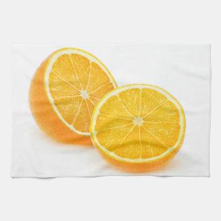 Cut orange towel