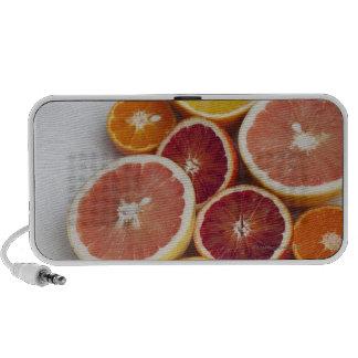 Cut Oranges on table iPod Speakers