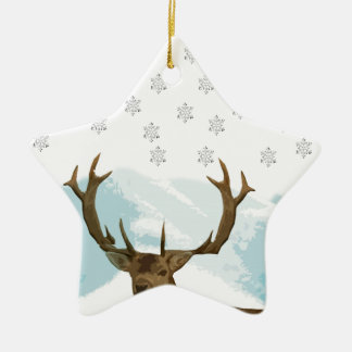 Cut Out Art Deco Deer with Snowflakes Christmas Christmas Ornament