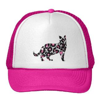 Cut Out Bling Cheetah Kitty Cap