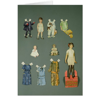 Cut out doll and clothes, late 1920s-early 1930s greeting card