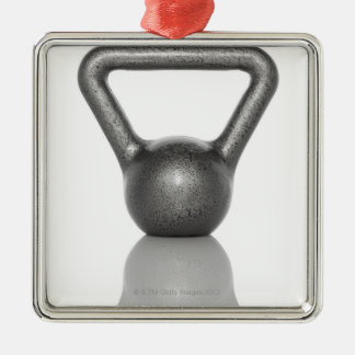 Cut out of a kettle bell on white background christmas ornament