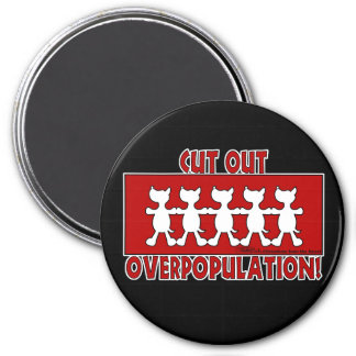 Cut Out Overpopulation! Dogs 7.5 Cm Round Magnet