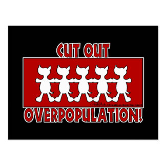 Cut Out Overpopulation! Dogs Postcard