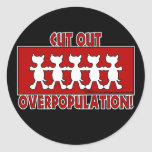 Cut Out Overpopulation! Dogs Sticker