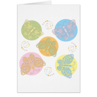Cut Out Pastel Butterfly Greeting Card