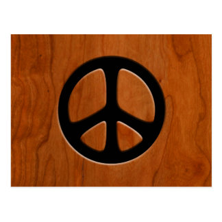 Cut-Out Wood Peace Postcard