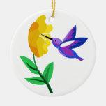 Cut Paper Hummingbird & Flower