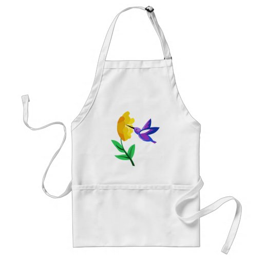 Cut Paper Hummingbird & Flower Aprons