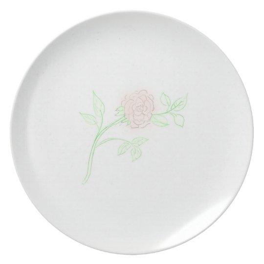 Cut Rose Plate