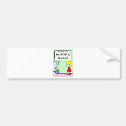 cut school video arcade kid bumper sticker
